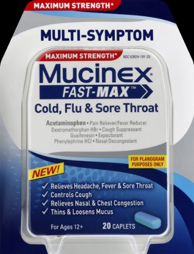 Mucinex Fast-Max Adult Caplets for