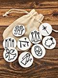 Color Your Own Nativity Story Starters on Wooden Discs