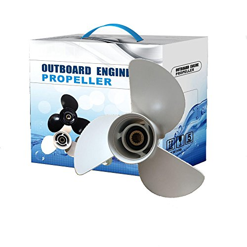 Max Motosports Aluminum Propeller fit Yamaha Outboard Engines 50-130HP 6E5-45947-00-00 13-1/2X15 Prop 13.5 X 15 Pitch