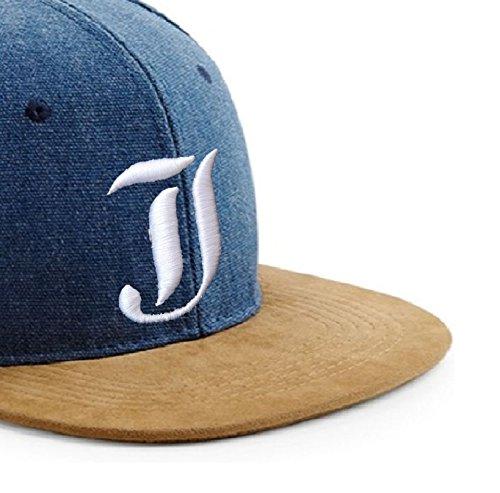logo estilo de con gótico Snapback J Gorra de diseño tela y con I béisbol Multicolor letra 3D en ante q8zWw46S8
