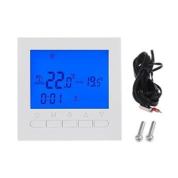 haia7k4k 220V Caldera de gas termostato calefacción regulador de temperatura ambiente semanal
