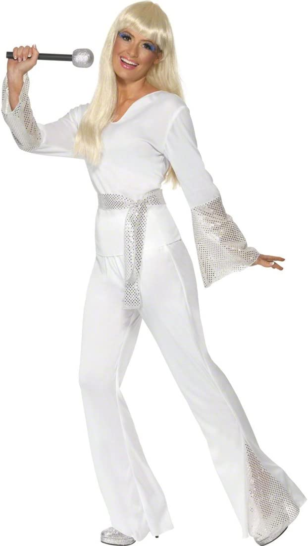 Disfraz Blanco L 44/46 Danza Disfraz Danza Disfraz Disco Disfraz ...