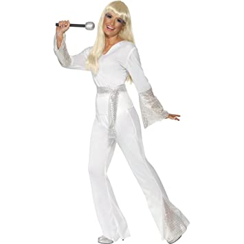 Baile de disfraces blanco M 40/42 disfraz traje danza traje ...