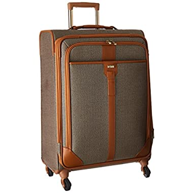 Hartmann Herringbone Luxe Softside Medium Journey Expandable Spinner, Terracotta Herringbone, One Size