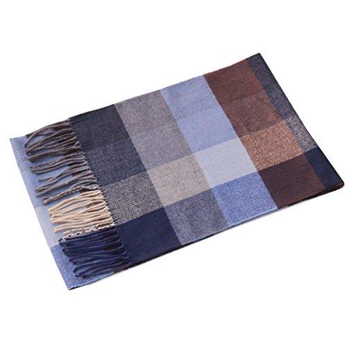 Lucky Leaf Women Men Winter Cozy Wool Warm Tartan Checked Plaid Wrap Scarf with Gift Box