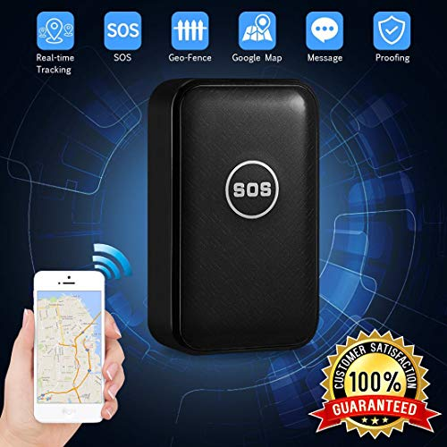 CaGuan Mini Portable Magnet GPS Tracker (no Subscription fee) Personal and Vehicle GPS Tracker, Anti-Theft Real-time Tracking Free Application Anti-Lost GPS Locator
