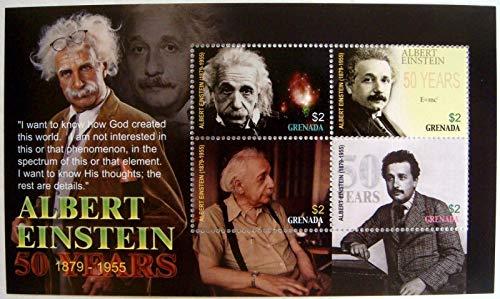 Albert Einstein - Famous Scientist - Physics - 50th Memorial Anniversary - Limited Edition Stamps - Grenada