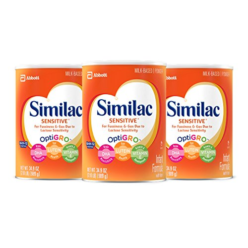 Similac Sensitive Infant Formula with Iron, Powder, One Month Supply, 34.9 ounces (Pack of 3) -