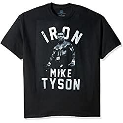 Boxing Hall of Fame Men's Iron Mike Tyson T-Shirt, Black, Large