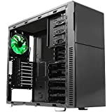 Nanoxia Deep Silence 3 Mid Tower Case Fits ATX Motherboard, Large Liquid Coolers Ready, with 6 Fan Controllers - Black