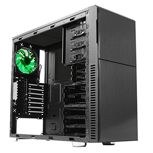 Deep Case (Nanoxia Deep Silence 3 Mid Tower Case Computer with 6 Fan Controllers, Fits ATX Motherboard and up to 8 HDD/SDD, 20.5 Pounds, Black)