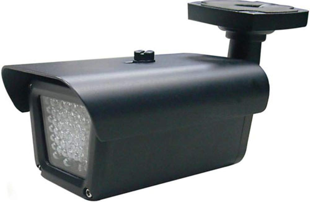 COP Security 15-IL21 Indoor/Outdoor Infrared LED Illuminator, 60° Field of Illumination, IR Range up 180 ft, 55 Powerful Infrared LEDs, 850nm Wave Length, Weather Resistant Operation