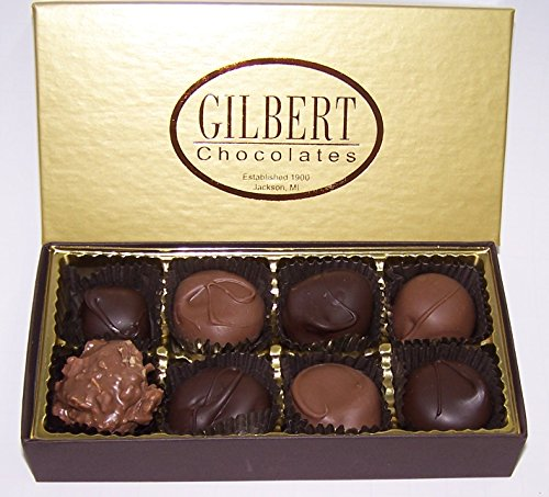 Gilbert Chocolates' Deluxe Assortment - 4 ounces assortment of our milk and dark chocolate covered creams, nuts and caramels