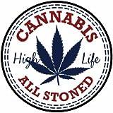 420 Cannabis - Color Sticker - Decal - Die Cut