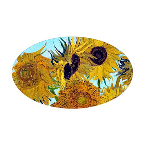 CafePress - Bags VG Sunflowers Sticker (Oval) - Oval Bumper Sticker, Euro Oval Car Decal