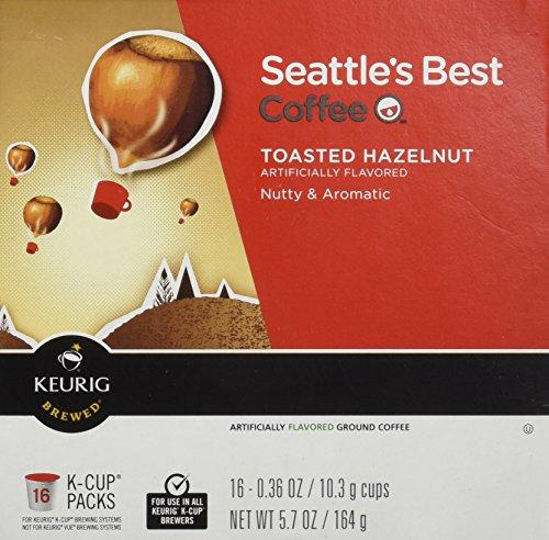 Seattle's Best Coffee Toasted Hazelnut K-cup 16 Packs
