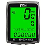 Bike Speedometer Wireless Waterproof Bicycle Bike Computer and Cycling Odometer with Wake-up Multifunction LCD Backlight Display