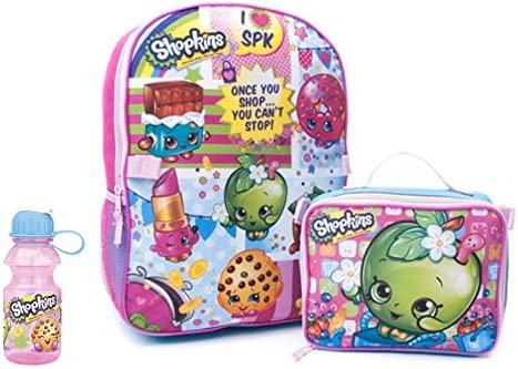 deef304bb1 Shopkins 3 Piece Kids Backpack Set - School Backpack, Lunch Bag & Water  Bottle: Amazon.co.uk: Toys & Games