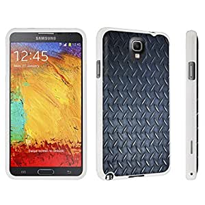DuroCase ? Samsung Galaxy Note 3 Hard Case White - (Black Diamond Plate Pattern)
