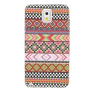 ZCL-Patrón de tela elegante cubierta del caso plástico suave de la contraportada para Samsung Galaxy Nota 3 N9000