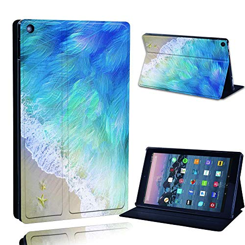 FINDING CASE Fit Amazon Fire HD 10 (9th gen 2019) alexa Leather Cover – PU Flip Leather Smart Lightweight Shell Stand…