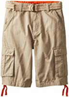 U.S. Polo Assn. Big Boys' Belted Ripstop Cargo Short