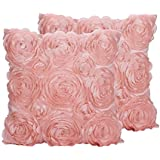 pillow with satin soft pin pillows inches throw vintage cover pink covers