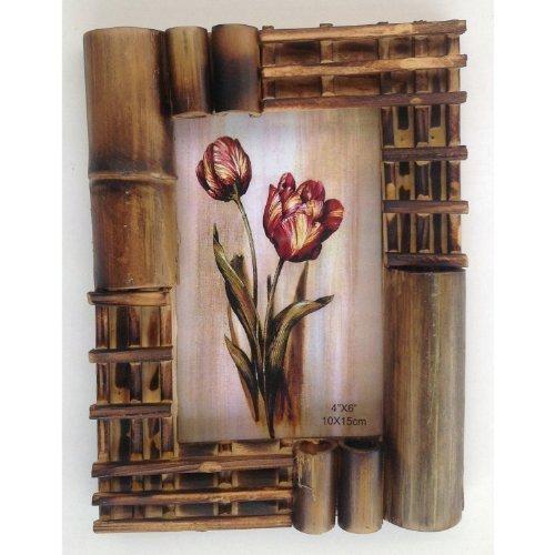 Ausgefallene bilderrahmen holz  Amazon.de: Bilderrahmen aus Bambus Design 3 a Holz Foto Galerie ...