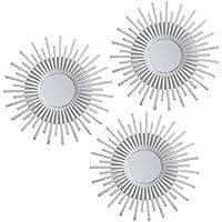 Lama Juego de Espejos de Pared, Blanco, 75x25x1.5