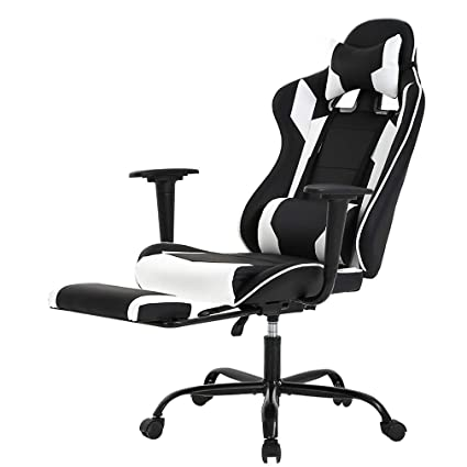 Fantastic Racing Gaming Chair High Back Pu Leather Home Office Chair Desk Computer Chair Ergonomic Executive Swivel Rolling Chair With Arms Lumbar Support For Pdpeps Interior Chair Design Pdpepsorg
