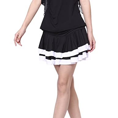 FaithYoo Damen Schößchen Kleid Schwarz Schwarz Gr. m, Schwarz ...