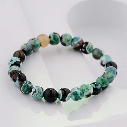 4da680d2b746 Amazon.com  Florance jones 8MM Natural Lava Sone Colorful Beads ...
