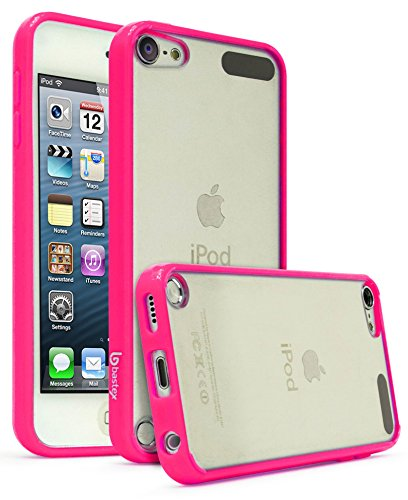 Crystal Case Generation Rubber (iPod Touch 6, Touch 5 Case, Bastex Crystal Clear Air Fused Rugged Ultra Slim Fit Shockproof Rubberized Plastic Bumper Clear Back Panel Cover Flexible TPU for iPod Touch 6th & 5th Generation(Pink))