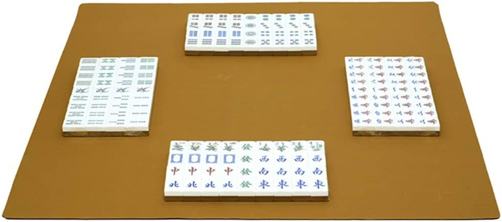Liergou-Accessories Mahjong Cubierta Mesa de Juego Rubber Mat Silencio Antideslizante Big Mat proteja la Tabla Estera de Poker Juegos de Cartas Juegos de Mesa Juegos de Dominó del azulejo: Amazon.es: Hogar