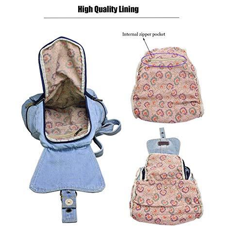 Blue Blue Backpack SAIERLONG Travel Bag School Denim Jean Light style01 Women's Girl's Light And Bag FqxwcqZP6g