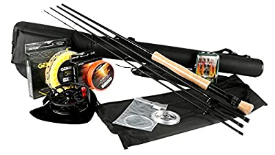 Goture Fly Fishing Rod and Reel Combos Fit Saltwater Freshwater 5/6 and 7/8 for Beginner and angler with Fly Line Fly Lures Full Kit with Rod Case
