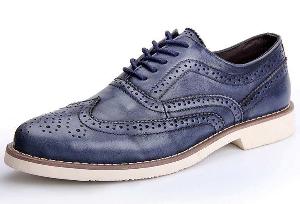 GLSHI Uomini Scarpe Casual Brogue Inghilterra Scarpe da Passeggio Stringate Stringate Stringate Vintage (colore   Blu, Dimensione   41 EU) 1eccbf