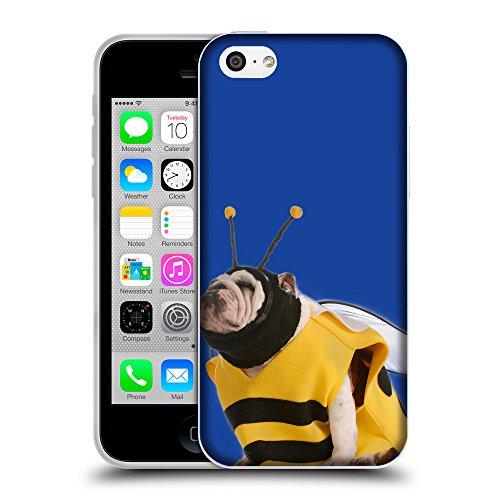 GoGoMobile Coque de Protection TPU Silicone Case pour // Q05650613 Abeille bouledogue Blu // Apple iPhone 5C