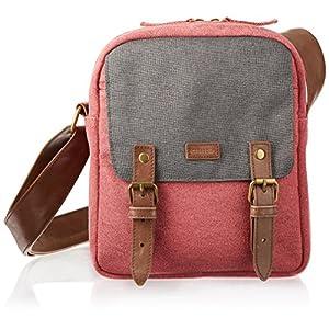 caseable shoulder travel bag for Kindle in maroon / grey