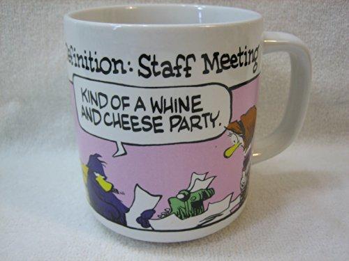 Jeff MacNelly Shoe 1984 Dated Mug - Definition: Staff Meeting