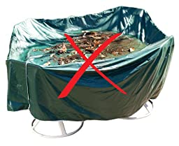 Duck Covers Elite Patio Loveseat Cover with Inflatable Airbag to Prevent Pooling, 70-Inch