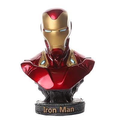 HBWJSH Hero Avengers Iron Man Medio Busto Modelo Estatua Anime Decoración 6.6in: Hogar