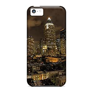 Series Skin Cases Covers For Iphone 5c(nyc Under Cloudy Skies At Night)