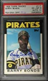 Barry Bonds signed 1986 Topps Traded Rookie Card RC Graded 10 Autograph auto - PSA/DNA Certified - Baseball Slabbed Autographed Cards