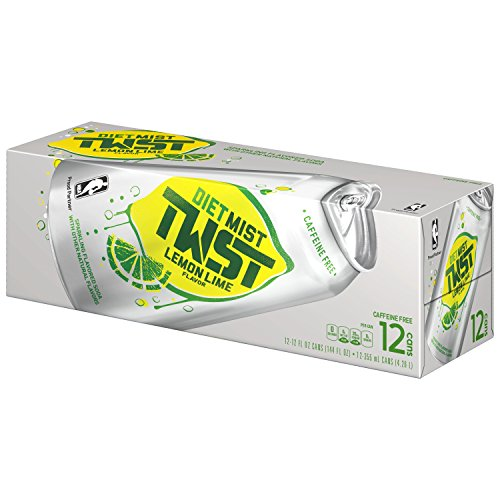 Mist Twist Diet Lemon Lime Soda  12 Ounce  12 Cans