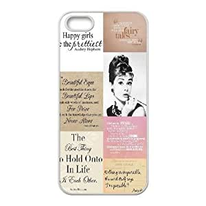 Audrey Hepburn Quote Hard Back Durable Case for Iphone 5,5S,diy Audrey Hepburn Quote case