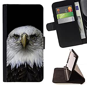 Momo Phone Case / Flip Funda de Cuero Case Cover - Hermoso Águila Falcon Hawk;;;;;;;; - Samsung Galaxy S5 Mini, SM-G800