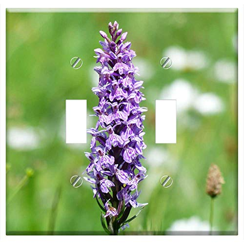 Switch Plate Double Toggle - Heath Spotted Orchid Orchid Flower Blossom ()