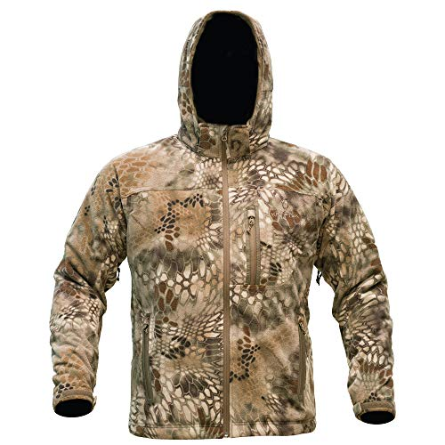 Kryptek Vellus Camo Hunting Jacket (Vellus Collection), Highlander, XL