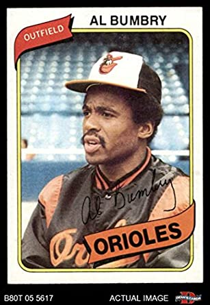 Amazoncom 1980 Topps 65 Al Bumbry Baltimore Orioles Baseball